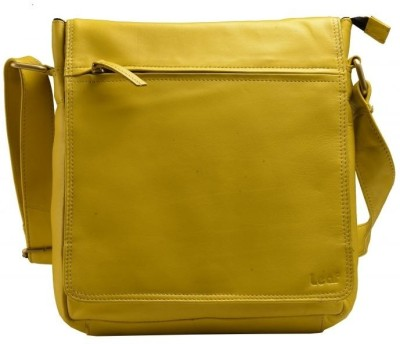 LEAF Men, Women Yellow Genuine Leather Sling Bag