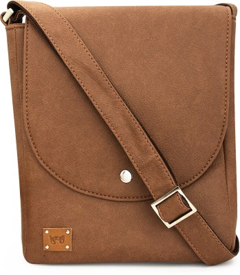 toog Girls, Women Tan Leatherette Sling Bag