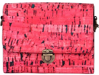 Zoe Makhoa Girls, Women Pink Silk Sling Bag