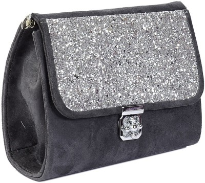 Vdesi Women, Girls Casual, Evening/Party, Formal, Festive Grey, Silver PU Sling Bag