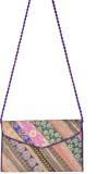 Kwickdeal Women Purple Silk Sling Bag