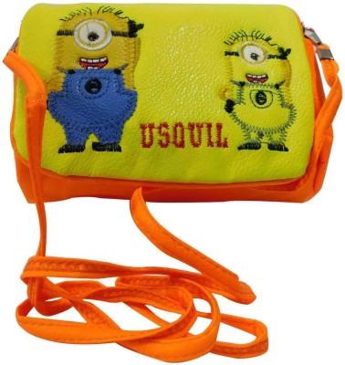 Laviva Women Orange Nylon Sling Bag