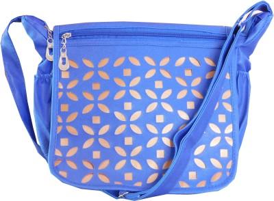 JTM Trading Girls Blue PU Sling Bag