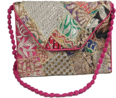 Snehkriti Women Evening/Party, Festive Multicolor Silk Sling Bag