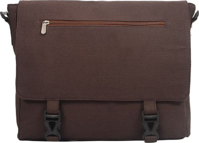 Purseus Women Casual Brown Canvas Sling Bag