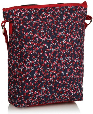 Home Heart Girls Red Cotton Sling Bag