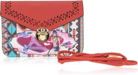Zeva Women Red PU Sling Bag