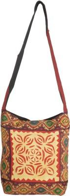 Diamonds World Women Multicolor Cotton Sling Bag