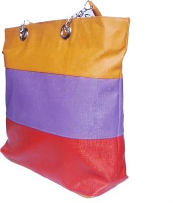WEEBILL Girls, Women Orange, Multicolor PU Tote