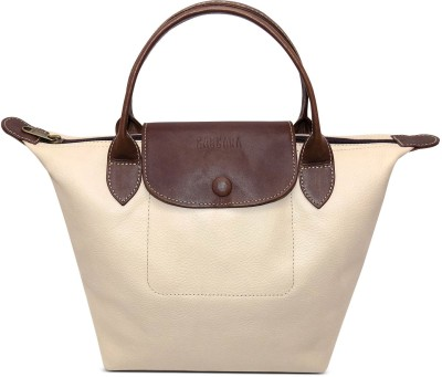 Cascara Women Beige Genuine Leather Shoulder Bag