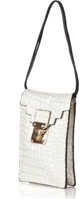 Stylehoops Girls, Women, Boys, Men Evening/Party White PU Sling Bag