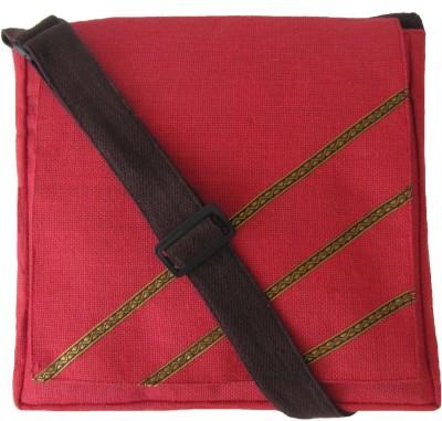 Jutecentral Women, Men Red Jute Sling Bag