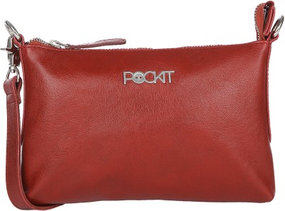 Pockit Women Casual Red PU Sling Bag