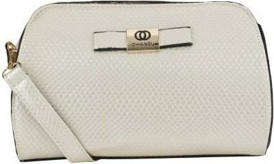 Liza Women, Girls White PU Sling Bag