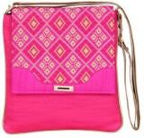 Sunbeams Women Pink Silk Sling Bag