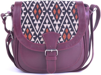 Hoppingstreet Girls Maroon Leatherette Sling Bag