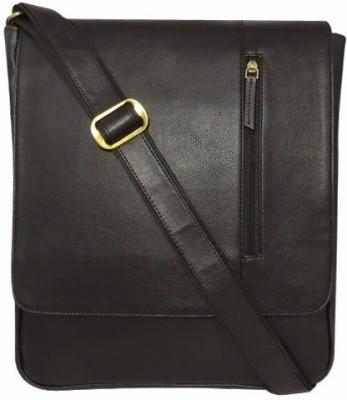 Chimera Leather Men Casual, Formal Black Leatherette Sling Bag