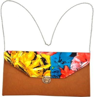 mezzo99 Women, Girls Gold PU Sling Bag