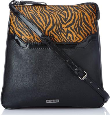 Peperone Girls, Women Black PU Sling Bag