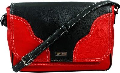 Beau Design Women Red PU Sling Bag