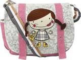 Coash Women Grey, Pink PU Sling Bag