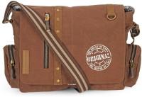The House of Tara Men & Women Brown Canvas Messenger Bag