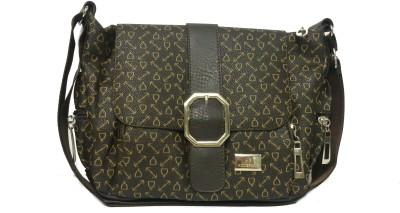 CRAVEFORIT Women Brown PU Sling Bag