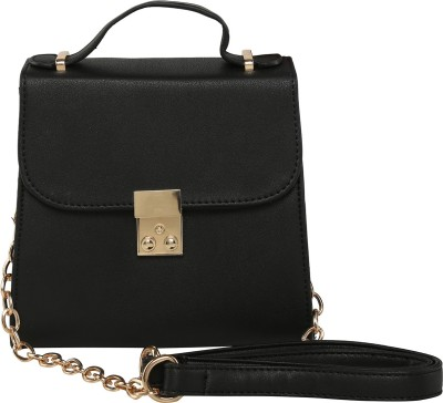 ToniQ Girls, Women Black Polyester Sling Bag