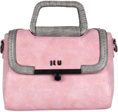 ILU Women Pink Genuine Leather Sling Bag