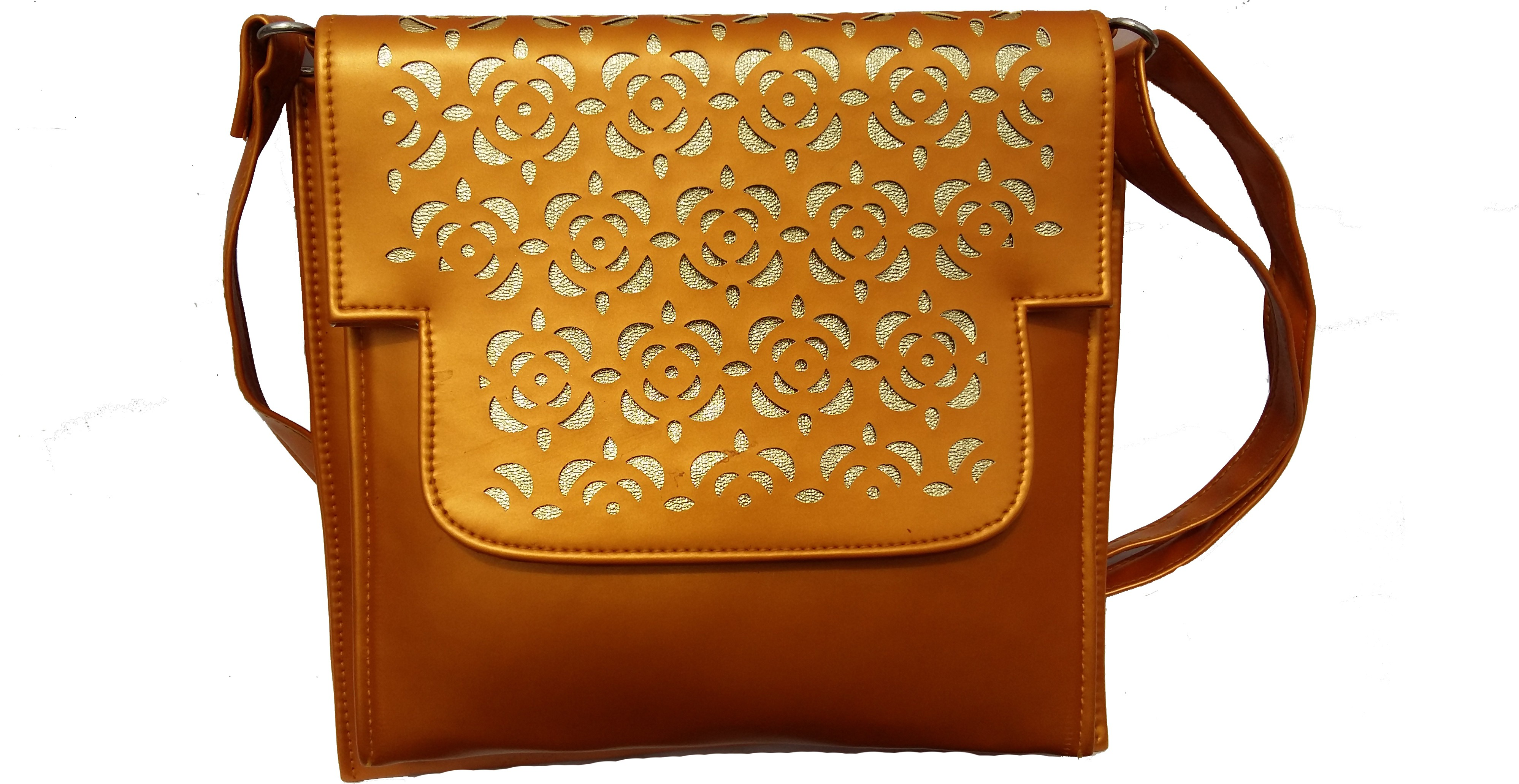 Sling bag below 500 - Surmount Women Girls Yellow Pu Sling Bag