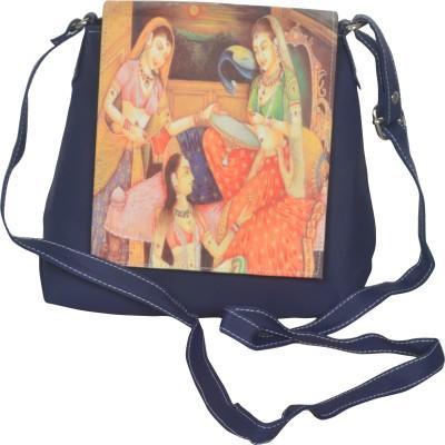 Freddys Men, Women Casual Blue PU Sling Bag