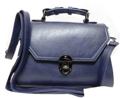 Hot Sea Women Blue Leatherette Sling Bag