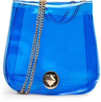 Bags Craze Women Blue Silicon Sling Bag