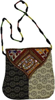 Craftuno Girls, Women Casual Multicolor Silk Sling Bag