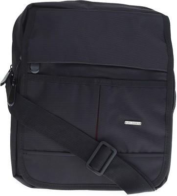 Lino Perros Men Casual Black Polyester Sling Bag