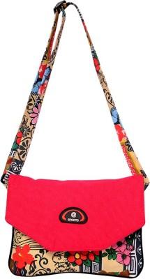 Roshiaaz Women Pink Canvas Sling Bag