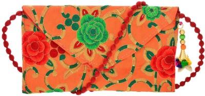 A R Sales Girls Multicolor Cotton Clutch