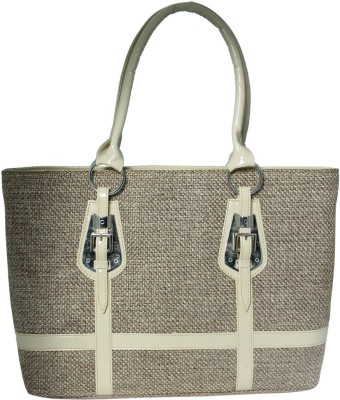 Heels And Toes Women Beige Jute Shoulder Bag