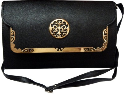 Navaksha Women Black PU Sling Bag