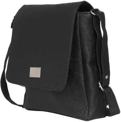 SV Creations Women Black PU Sling Bag