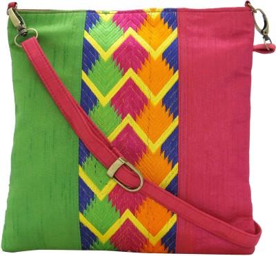Stylocus Women Casual Pink Silk Sling Bag