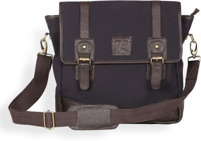 Henry and Smith Men Brown Genuine Leather Messenger Bag