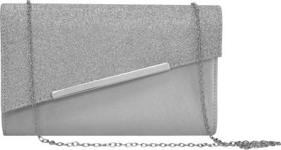 ToniQ Girls, Women Silver Polyester Sling Bag