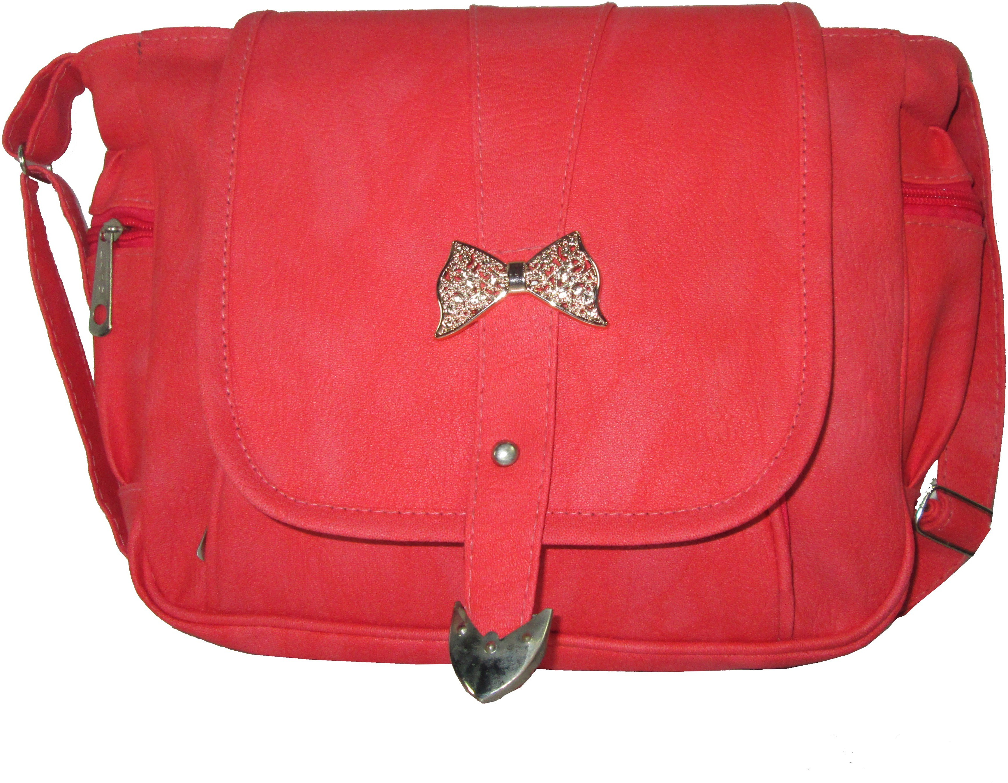 Sling bag below 500 - Raju Purse Collection Women Pink Pu Sling Bag