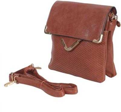Knighthood Women Brown PU Sling Bag