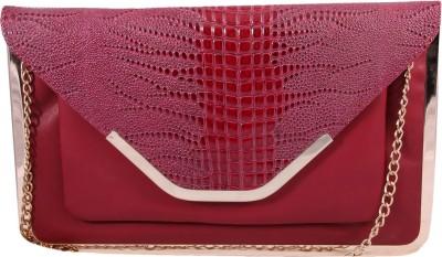 Pinkdivaas Girls Red Leatherette Sling Bag