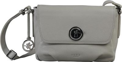 ILEX London Women Casual Grey Genuine Leather Sling Bag