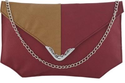 Fantosy Women Casual Maroon PU Sling Bag