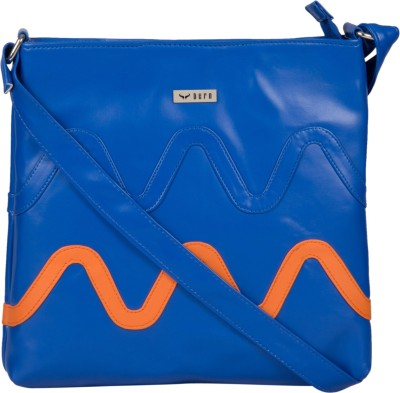 Bern Girls Casual Blue, Orange PU Sling Bag