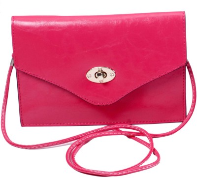 Classique Women Casual, Formal, Evening/Party Pink PU Sling Bag